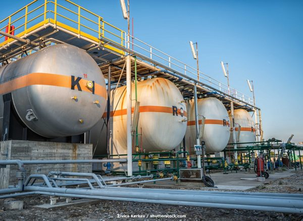 Gas,Tank,Containers,In,Natural,Gas,Factory