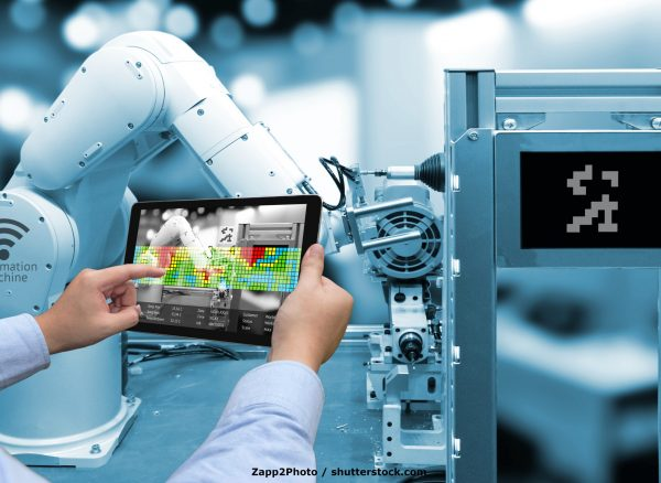 Industry,4.0,Concept,.man,Hand,Holding,Tablet,With,Augmented,Reality